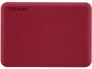 TOSHIBA 1TB Canvio Advance Portable External Hard Drive USB 3.0 Model HDTCA10XR3AA Red