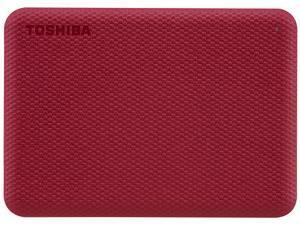 TOSHIBA 2TB Canvio Advance Portable External Hard Drive USB 3.0 Model HDTCA20XR3AA Red