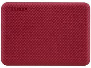 TOSHIBA 4TB Canvio Advance Portable External Hard Drive USB 3.0 Model HDTCA40XR3CA Red