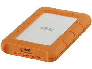 LaCie 2TB Rugged USB-C Portable Hard Drive 1 x USB-C 3.1 Model STFR2000800 Orange