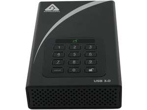 "APRICORN Aegis Padlock DT 6TB USB 3.0 3.5"" Encrypted Desktop Hard Drive with PIN Access with 256-bit AES Encryption ADT-3PL256-6000 Black"