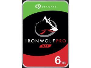 "Seagate IronWolf Pro 6TB NAS Hard Drive 7200 RPM 256MB Cache CMR SATA 6.0Gb/s 3.5"" Internal HDD ST6000NE000"