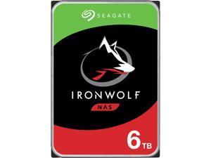 "Seagate IronWolf ST6000VN001 6TB 5400 RPM 256MB Cache SATA 6.0Gb/s 3.5"" Internal Hard Drive Bare Drive"