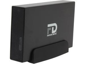 Fantom Drives G-Force Quad 4TB USB 3.0 / Firewire400 / 2 x Firewire800 / eSATA Aluminum Desktop External Hard Drive GF4000QU3 Black