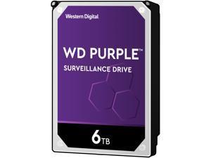 WD Purple 6TB Surveillance Hard Disk Drive - 5400 RPM Class SATA 6Gb/s 64MB Cache 3.5 Inch WD60PURZ