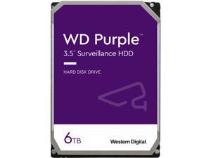 WD Purple 6TB Surveillance Hard Disk Drive - 5700 RPM Class SATA 6Gb/s 64MB Cache 3.5 Inch WD60PURZ
