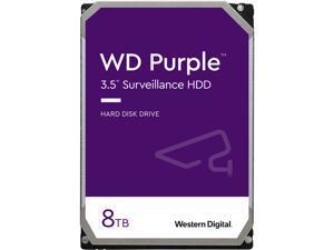 WD Purple 8TB Surveillance Hard Disk Drive - 5400 RPM Class SATA 6Gb/s 128MB Cache 3.5 Inch WD80PURZ