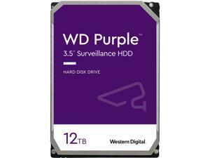 """WD Purple WD121PURZ 12TB 7200 RPM 256MB Cache SATA 6.0Gb/s 3.5"""" Internal Hard Drive Bare Drive"""
