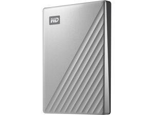 WD 2TB My Passport Ultra for Mac Portable Storage External Hard Drive USB-C Silver WDBKYJ0020BSL-WESN