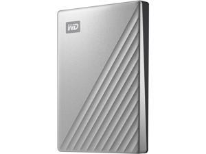WD 4TB My Passport Ultra for Mac Portable Storage External Hard Drive USB-C Silver WDBPMV0040BSL-WESN