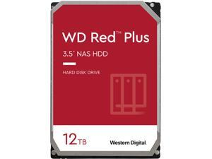 WD Red Plus 12TB NAS Hard Disk Drive - 5400 RPM Class SATA 6Gb/s, CMR, 256MB Cache, 3.5 Inch - WD120EFAX