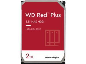 WD Red Plus 2TB NAS Hard Disk Drive - 5400 RPM Class SATA 6Gb/s, CMR, 128MB Cache, 3.5 Inch - WD20EFZX