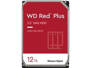 WD Red Plus 12TB NAS Hard Disk Drive - 7200 RPM Class SATA 6Gb/s, CMR, 256MB Cache, 3.5 Inch - WD120EFBX