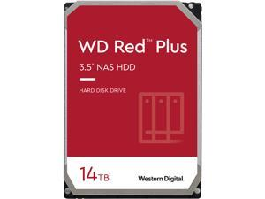WD Red Plus 14TB NAS Hard Disk Drive - 7200 RPM Class SATA 6Gb/s, CMR, 512MB Cache, 3.5 Inch - WD140EFGX