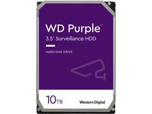 WD Purple 10TB Surveillance Hard Disk Drive - 5400 RPM Class SATA 6Gb/s 256MB Cache 3.5 Inch - WD100PURZ
