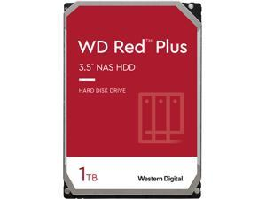 WD Red Plus 1TB NAS Hard Disk Drive - 5400 RPM Class SATA 6Gb/s, CMR, 64MB Cache, 3.5 Inch - WD10EFRX
