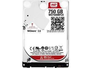 WD Red 750GB NAS Hard Disk Drive - 5400 RPM Class SATA 6Gb/s 16MB Cache 2.5 Inch - WD7500BFCX