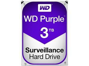 WD Purple 3TB Surveillance Hard Disk Drive - 5400 RPM Class SATA 6Gb/s 64MB Cache 3.5 Inch WD30PURX