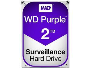 WD Purple 2TB Surveillance Hard Disk Drive - 5400 RPM Class SATA 6Gb/s 64MB Cache 3.5 Inch WD20PURX