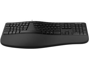 Microsoft Ergonomic LXN-00001 Black USB Wired Ergonomic Keyboard