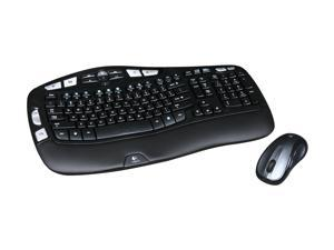 Logitech MK550 2.4 GHz Wireless Wave Keyboard and Mouse Combo - Black