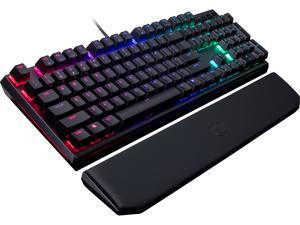 MasterKeys MK750 Mechanical Gaming Keyboard with Cherry MX Blue, RGB Per-Key lighting, and Removable Wrist Rest by Cooler Master