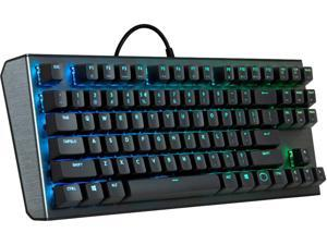 Cooler Master CK530 Tenkeyless Gaming Mechanical Keyboard with Red Switches, RGB Backlighting, On-the-Fly Controls, and Aluminum Top Plate