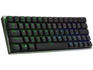 Cooler Master SK622 Wireless 60% Mechanical Keyboard with Low Profile Red Switches, New and Improved Keycaps, and Brushed Aluminum Design