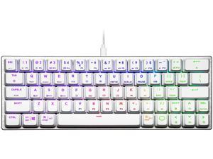 Cooler Master SK620 60% Sliver White Mechanical Keyboard with Low Profile Blue Switches, New and Improved Keycaps, and Brushed Aluminum Design
