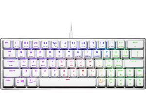 Cooler Master SK620 60% Sliver White Mechanical Keyboard with Low Profile Red Switches, New and Improved Keycaps, and Brushed Aluminum Design