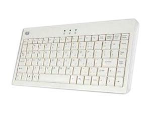 Adesso AKB-110W EasyTouch mini USB Keyboard with PS/2 Adapter (White)