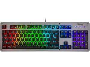 Rosewill NEON K52 RGB Waterproof Membrane Mechanical Gaming Keyboard, 19-Key Anti-Ghosting, 12 Multimedia Hotkeys, 8 LED Backlit Modes, Spill-Proof Dust-Proof Aluminum Plate