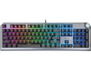 Rosewill NEON K91 RGB S Mechanical Gaming Keyboard with Cherry MX Silver Switches, RGB Underglow and 17 Backlit Modes, Multifunctional Dial Control, Wrist Rest and PBT Keycap Set