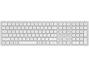 Rosewill K10 S Bluetooth Wireless Keyboard 4-Device Sync Compatible with Mac Computers, Windows, Android, iOS Tablets and Smartphones (Silver)