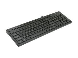 i-rocks KR-6401-BK Black USB Wired Slim Chocolate Key Style Keyboard