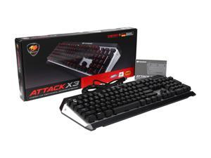 COUGAR ATTACK X3 Premium Gaming Mechanical Keyboard with Aluminum Brushed Structure and Cherry Brown Switches