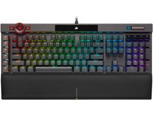 CORSAIR K100 RGB Optical-Mechanical Gaming Keyboard, Backlit RGB LED, CORSAIR OPX Keyswitches, Black