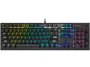 CORSAIR K60 RGB PRO LOW PROFILE Mechanical Gaming Keyboard, Backlit RGB LED, CHERRY MX Low Profile SPEEDKeyswitches, Black