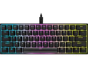 Corsair K65 RGB MINI 60% Mechanical Gaming Keyboard, Backlit RGB LED, CHERRY MX SPEED Keyswitches, Black (CH-9194014-NA)