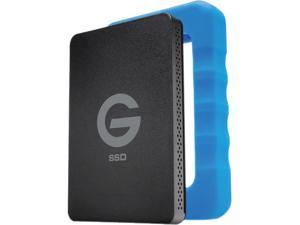 G-Technology 500GB G-DRIVE ev RaW SSD Portable External Storage with Removable Protective Rubber Bumper, USB 3.0 (0G04755)