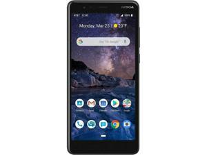 Nokia 3.1 A 32GB TA-1140 GSM Unlocked 4G LTE 5.45 in IPS LCD Display 2GB RAM 8MP Camera Android One Smartphone - Black