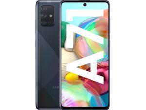 "Samsung Galaxy A71 (A715F) 6.7"" Super AMOLED Plus Screen, 128GB Memory + 6GB RAM, in-Screen Fingerprint, US + Global 4G LTE, GSM Unlocked, No CDMA, International Model - (Prism Crush Black)"