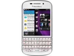 Blackberry Q10 SQN100-3 16GB 4G LTE, GSM Unlocked - English/Arabic Keypad + BB Hard Shell Case - Black/White