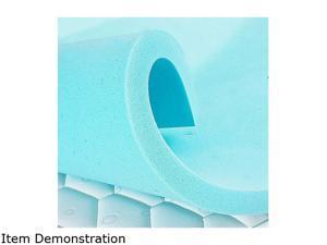 Furgle Gel Memory Foam Mattress Topper 4'' Queen Full Ventilated Design 4 Inch Soft Sleeper Visco Elastic Memory Foam Mattress Topper