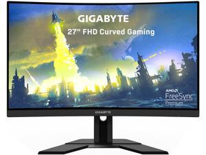"GIGABYTE G27FC 27"" 165Hz 1080P Curved Gaming Monitor, 1920 x 1080 VA 1500R Display, 1ms (MPRT) Response Time, 90% DCI-P3, FreeSync Premium, 1x DisplayPort 1.2, 2x HDMI 1.4, 2x USB 3.0"