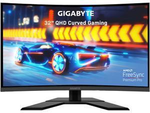 "GIGABYTE G32QC 32"" 165Hz 1440P Curved Gaming Monitor, 2560 x 1440 VA 1500R Display, 1ms(MPRT), 94% DCI-P3, VESA Display HDR400, FreeSync Premium Pro, 1x Display Port 1.2, 2x HDMI 2.0, 2x USB 3.0"