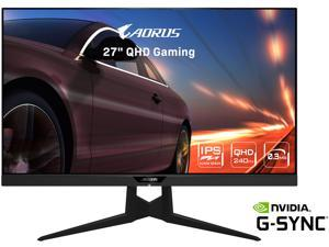"AORUS FI27Q-X 27"" 240Hz 1440P HBR3, G-SYNC Compatible, SS IPS Gaming Monitor, Exclusive Built-in ANC, 2560 x 1440, 0.3ms Response Time, HDR, 93% DCI-P3, 1x DisplayPort 1.4, 2x HDMI 2.0, 2x USB 3.0"