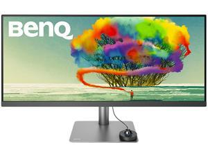 "BenQ DesignVue PD3420Q 34"" UWQHD 3440 x 1440 2K 60Hz 2xHDMI DisplayPort Built-in Speakers USB 3.1 Hub HDR 400 Zero-Flicker Low Blue Light Anti-Glare Backlit LED IPS Designer Monitor"