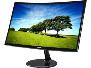 "SAMSUNG 390 Series C24F390 Glossy Black 24"" HDMI Widescreen LCD/LED Monitor, AMD FreeSync, 250cd/m2 DCR Mega Infinity (3000:1), VESA Mountable, D-Sub, HDMI"
