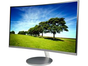 """SAMSUNG 591 Series C27F591 Silver 27"""" Curved 4ms (GTG) 60 Hz Refresh Rate Widescreen LCD/LED Monitor, AMD FreeSync, 250 cd/m2 DCR Mega Infinity (3000:1), Built-in Speakers, D-Sub HDMI DisplayPort"""